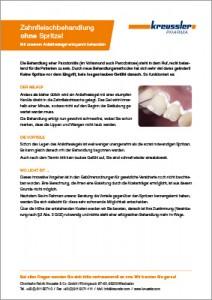Zahnfleischbehandlung ohne Spritze Infoblatt